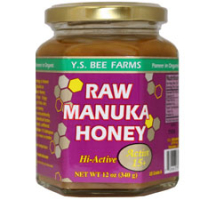 Click to enlarge Raw Manuka Honey, YS Organic (12 oz, 100% raw, Active 15+)