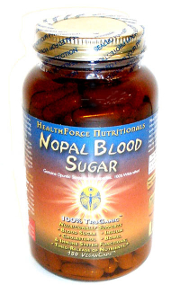 Click to enlarge Nopal (Cactus) Blood Sugar, capsules (180 v-caps)