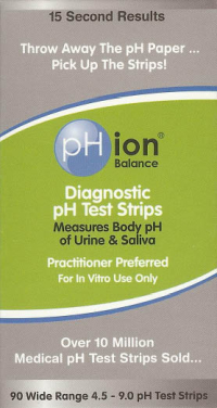 Click to enlarge Diagnostic pH Test Strips (90 count)