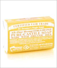 Click to enlarge Dr. Bronner's Pure Castile Bar Soap, Citrus Orange (5 oz)