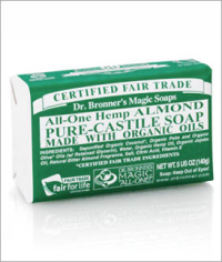 Click to enlarge Dr. Bronner's Pure Castile Bar Soap, Almond (5 oz)