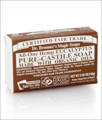 Click to enlarge Dr. Bronner's Pure Castile Bar Soap, Eucalyptus (5 oz)