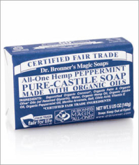 Click to enlarge Dr. Bronner's Pure Castile Bar Soap, Peppermint (5 oz)