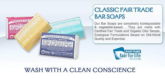 Dr. Bronner's Pure Castile Bar Soap, Rose (5 oz)