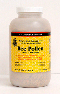 Click to enlarge Bee Pollen Whole Granules, YS Organic (16 oz, low moisture)