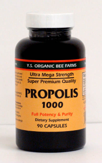 Click to enlarge Propolis, YS Organic, capsules (90 count, 1000 mg capsules)