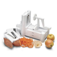 Click to enlarge Spiral Vegetable Slicer (also called Spirooli 3-in-1 Slicer)