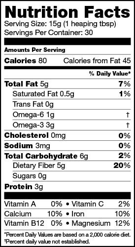 Chia Seeds, Raw Power (16 oz, raw, premium)