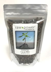 Click to enlarge Cacao Nibs, Raw Power (8 oz, raw, certified organic)