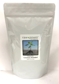 Click to enlarge Coconut, shredded, Raw Power (16 oz, Premium