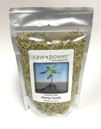 Click to enlarge Hemp Seeds, Raw Power (8 oz, Premium)