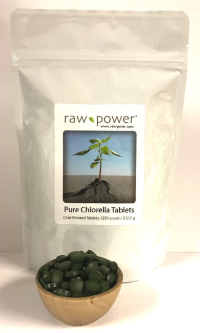 Chlorella, cold-pressed tablets, Raw Power (1250 count, 250g)