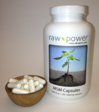 Click to enlarge MSM Capsules, 100% pure, Raw Power (250 v-caps, 1000mg each, made in the USA!)