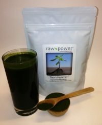 Click to enlarge Thor's Hammer Superfood Powder, Raw Power (8.8 oz, 250 g, pure chlorella/pure spirulina blend)