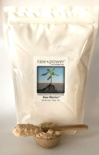 Raw Warrior Brown Rice Protein Powder, Raw Power, ONE KILO (35.2oz/1000g), Premium Raw