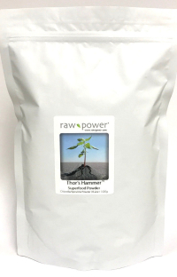 Click to enlarge Thor's Hammer Superfood Powder, Raw Power (KILO, 35.2 oz, 1000 g, pure chlorella/pure spirulina blend)