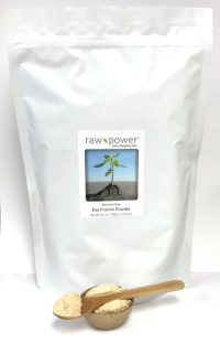 Click to enlarge Pea Protein Powder, Raw Power (35.2 oz / 1000 g / ONE KILO, Premium)